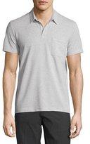 Theory Millos Short-Sleeve Pique Polo Shirt, Light Heather