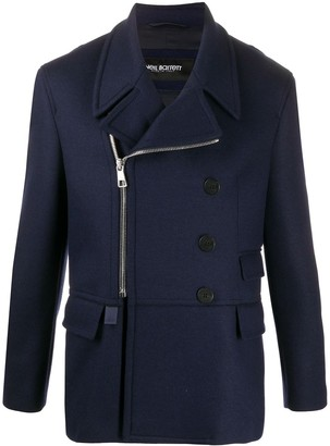 Neil Barrett Zipped Double-Breasted Coat