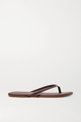 TKEES Lily Leather Flip Flops - Brown
