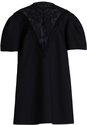 Alexander McQueen New Lace Puff-Sleeve Day Dress