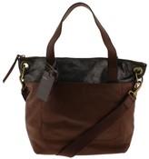Fossil Womens Keely Metallic Leather Tote Handbag