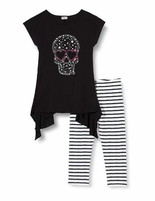 MEK Girl's Completo 3 Pezzi: Top Felpa E Leggings E T-Shirt Clothing Set