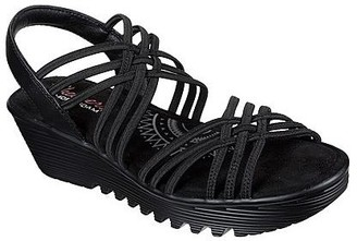 Skechers Woven Gore Slingback Sandals - Parallel