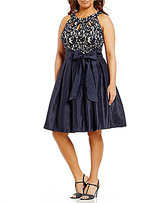 Jessica Howard Plus Lace Taffeta Party Dress
