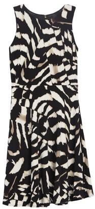 DKNY Patterned Matte Jersey Dress