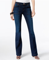 INC International Concepts Braided Indigo Wash Flare-Leg Jeans, Only at Macy's