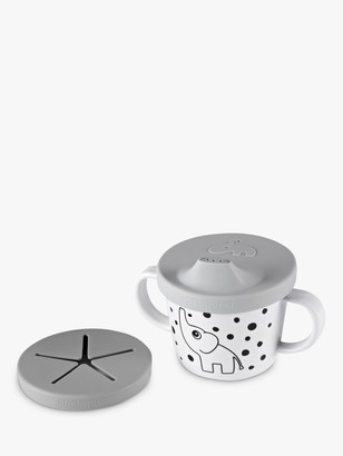 Done by Deer Silicone Sippy Cup with Snack Lid, Grey