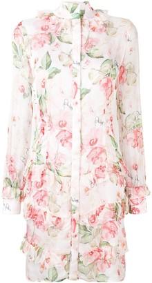 Philipp Plein Floral Shirt Dress