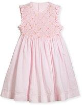 Luli & Me Sleeveless Smock Embroidered Dress, Pink, Size 4-6X
