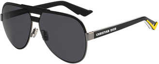 Christian Dior Men's DiorForerunner Metal Aviator Sunglasses