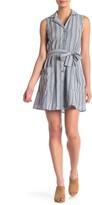 Angie Striped Sleeveless Shirt Dress