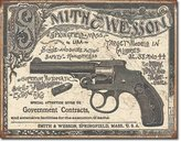 Smith & Wesson S&W 1892 Contracts Tin Sign 16 x 13in