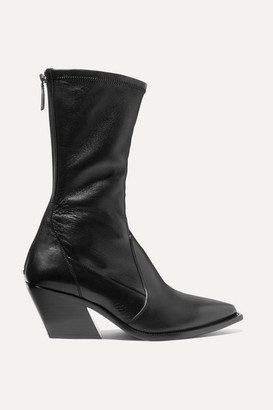 Givenchy Leather Sock Boots - Black