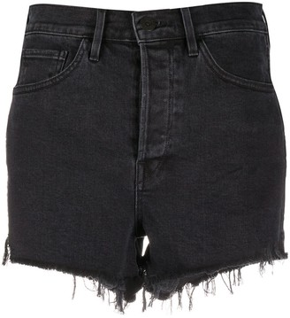 3x1 Frayed Hem Denim Shorts