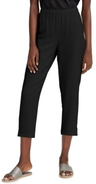 Eileen Fisher System Silk Tapered Pants, Regular & Petite Sizes