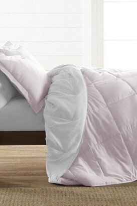 IENJOY HOME Treat Yourself To The Ultimate Down Alternative Reversible 3-Piece Comforter Set - Blush - Queen