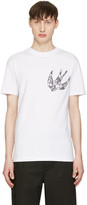 McQ by Alexander McQueen White Paisley Swallow T-Shirt