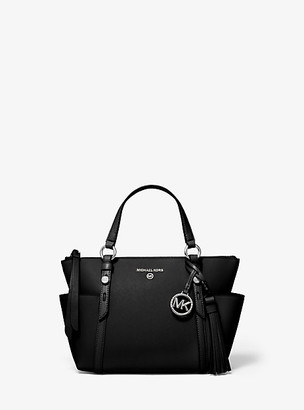 MICHAEL Michael Kors MK Nomad Small Saffiano Leather Top-Zip Tote Bag - Black - Michael Kors