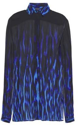 Just Cavalli Leopard-print Chiffon Shirt