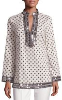 Tory Burch Tory Embellished Printed Tunic