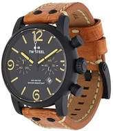 TW Steel Men's 'Maverick' Quartz Stainless and Leather Casual Watch