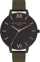Olivia Burton OB16AD05 after dark ion-plated stainless steel and leather watch