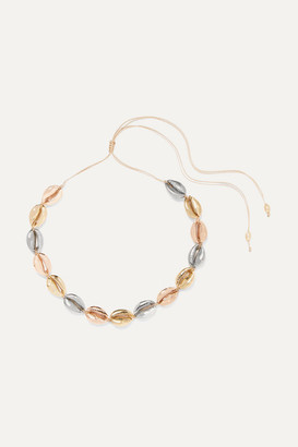 Puka Tohum - Large Yellow And Rose Gold And Silver-plated Necklace - one size