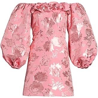 Stine Goya Dora Brocade Off-The-Shoulder Mini Dress