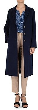 Gerard Darel Button-Front Long Double-Face Wool Coat
