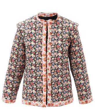 Sea Leslie Quilted Floral-print Cotton-poplin Jacket - Black Multi