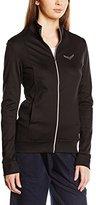 Trigema Women's Damen Jacke mit Swarovski® Kristallen Long Sleeve Track Jacket - black - UK