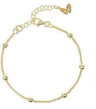 Vamp London Chic Rio Beaded Yellow Gold Bracelet of Length 16-19cm