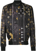 Versace Baroque Medusa print bomber jacket - men - Cotton/Polyester/Spandex/Elastane/Viscose - 48