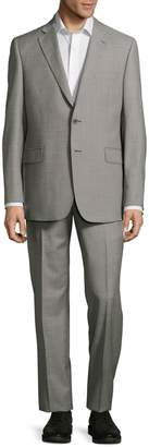 Saks Fifth Avenue Made In Italy Structured Solid Slim-Fit Suit