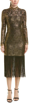 Rachel Zoe Hunter Fringe Midi Dress