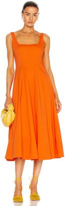 STAUD Wells Dress in Nectarine   FWRD