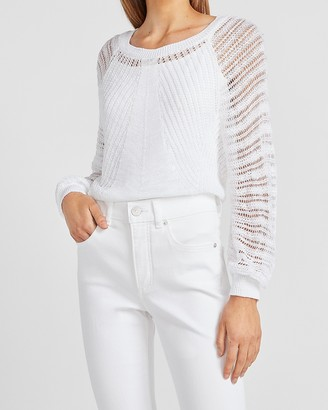 Express Open Stitch Balloon Sleeve Sweater