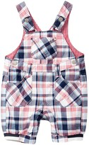 Kanz Road Works Plaid Overalls (Baby Boys)
