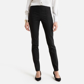 """Anne Weyburn Cotton Mix Straight Trousers, Length 30.5"""""""