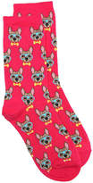 Hot Sox Women's Frenchie Women's Crew Socks