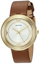 Tory Burch Bailey Leather Watch (Brown - TBW6100) Watches