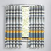 """Fine Lines Yellow 63"""" Curtain"""