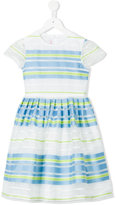 Il Gufo striped pleated dress - kids - Cotton/Nylon/Polyester - 4 yrs