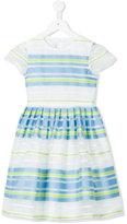 Il Gufo striped pleated dress