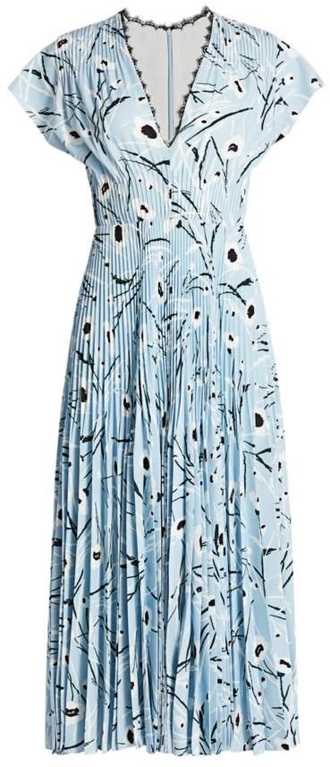 Jason Wu Collection Stem Floral Crepe Midi Dress
