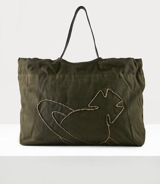Vivienne Westwood Worker Drawstring Shopper Green