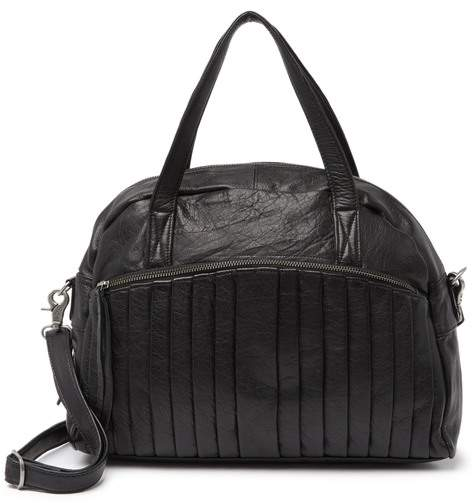 Day & Mood Petra Leather Pleated Satchel