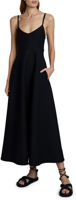 Valentino Sleeveless Maxi Dress with Pockets