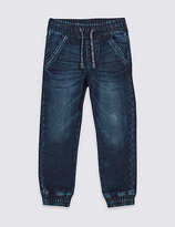 Marks and Spencer Cotton Rich Cuffed Hem Jogger Jeans (3 Months - 5 Years)
