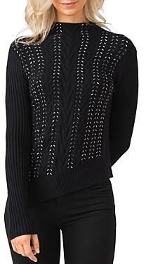Belldini Embellished Mock Neck Sweater